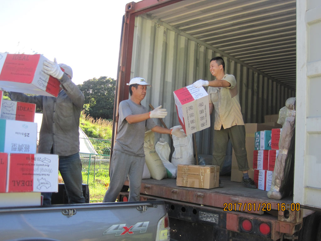 Agricultural Material of the Sixth Phase of China Aid Agricultural Technical Cooperation Project Arrives